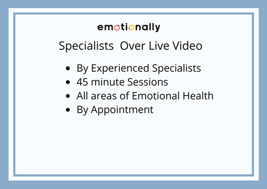 Emotional Health Specialist Over Live Video